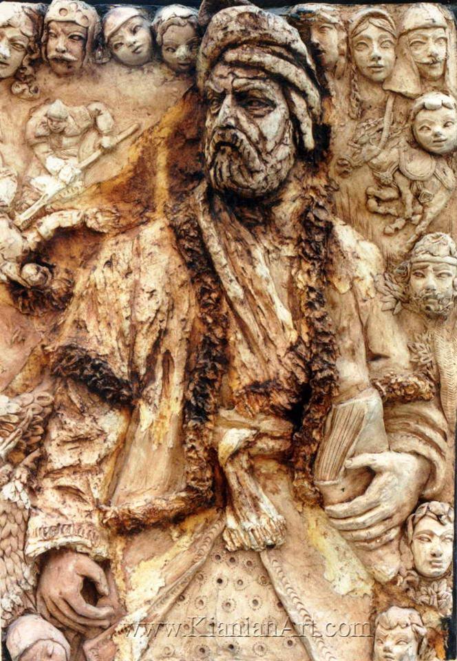 اثر مليحه كيانيان - شاهنامه و ورزش باستانى - نقش برجسته